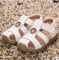 Детские сандалии 2017 весной и осенью новый 100% натуральная кожа мальчиков и девочек детей пляж сандалии девочек принцесса обувь lea