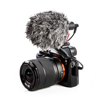 BOYA BY MM1 Video Record Microphone Compact VS Rode VideoMicro On Camera Recording Mic for Sony A7 A9 A7S2 A7R2 A7III A7R3 A7M3