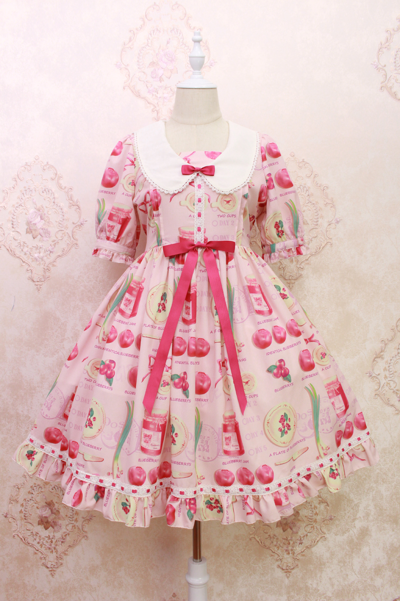 Arándano dulce impreso Vestido de manga corta por Alice Girl ~ pre ...