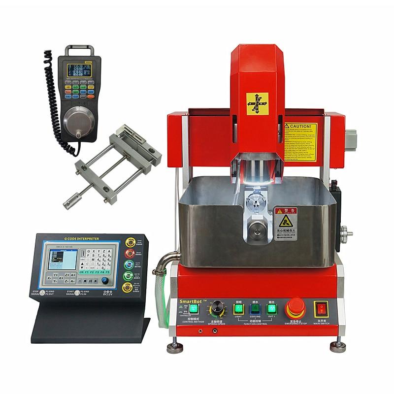 800 W 4 axes 2020 CNC Machine de gravure routeur pour bijoux cire joint soutien hors ligne de travail