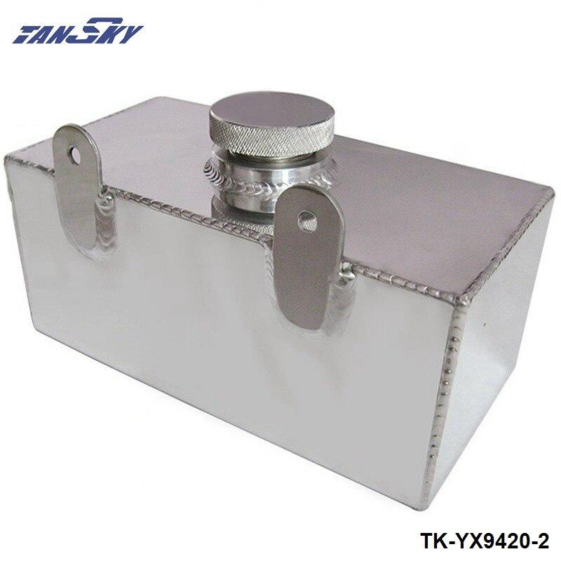 אלומיניום סגסוגת מראה מלוטש השמשה מכונת כביסת בקבוק intercooler ריסוס טנק 2 ליטר TK-YX9420-2