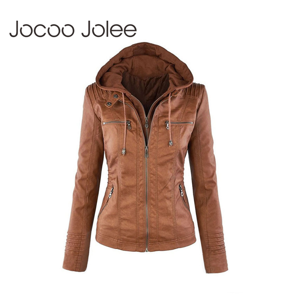 Jocoo Jolee Winter Faux Fur Coat   Basic     Jacket   Plus Size Women Coats and   Jackets   Female Autumn Faux Leather   Jacket   Oversized 4XL