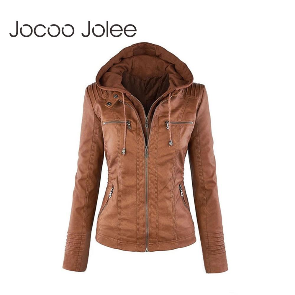 Jocoo Jolee Winter Faux Fur Coat   Basic     Jacket   Plus Size Women Coats and   Jackets   Female Autumn Faux Leather   Jacket   Oversized 4XL