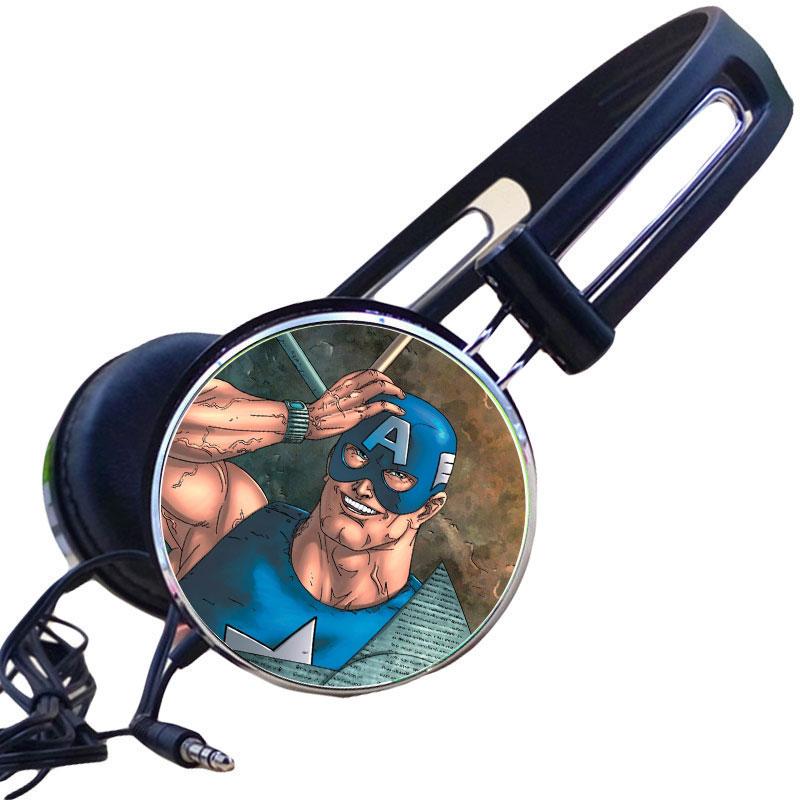 Custom The Avengers U.S.Agent John F. Walker Headphone Hip-Hop Gaming Headset Stereo Headphones for Phone Mp3 PC Video Game Gift