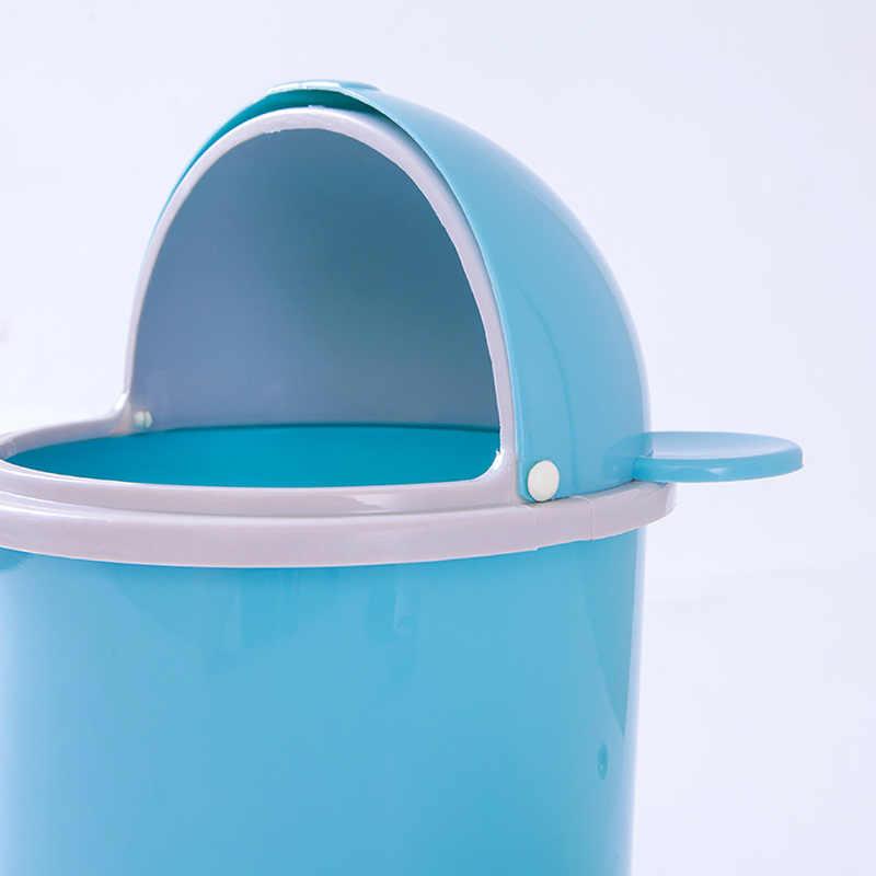 Kreative Nette Desktop Kunststoff Papierkorb Büro Hause Wohnzimmer Tisch mit Deckel Kleine Papier Korb Mini Flip Müll können