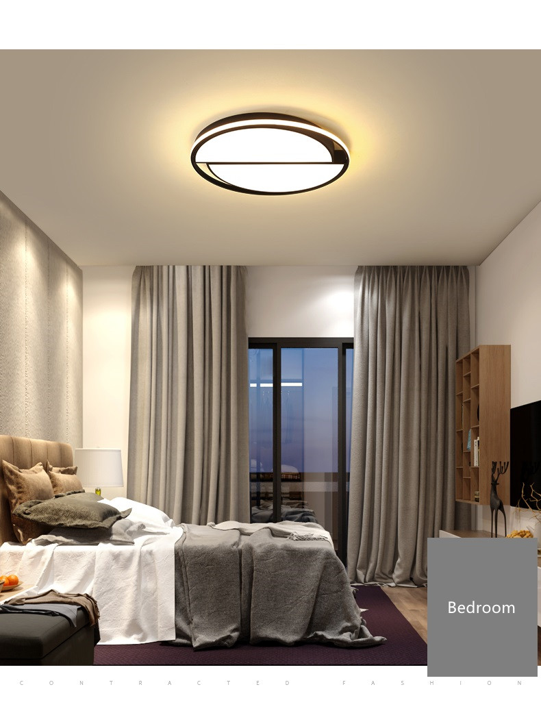 Round Ceiling Chandelier Plafonnier LED Lamp Modern Chandeliers Luminaria 6