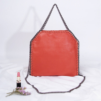 New Casual Tote Pvc Shoulder Bags Europe women Chain Crossbody Bags For Women 2017 Woman Hand Bag Japan High quality 25cm