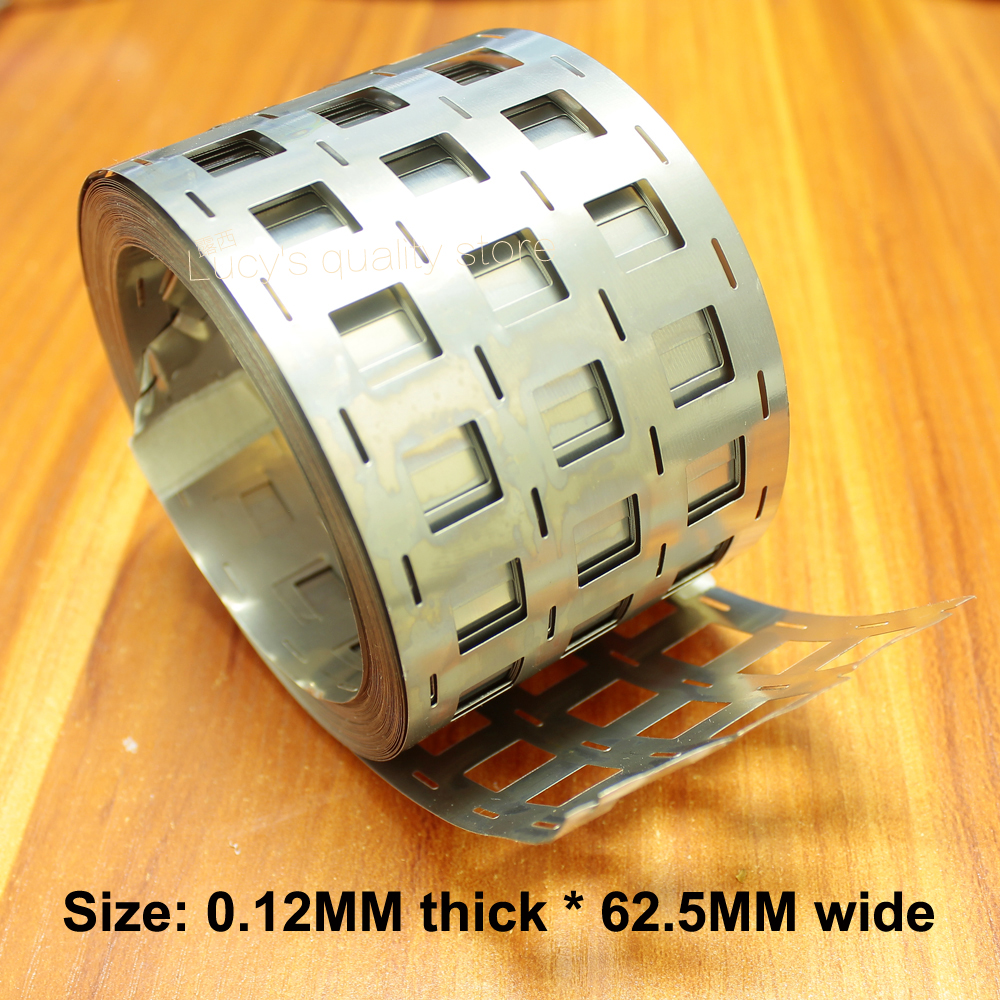 1 кг 4 и 18650 литиевая батарея Никель никелированная сталь точечной сварки никель лист 0,12*62,5 перфорации 2 строки 10 строка