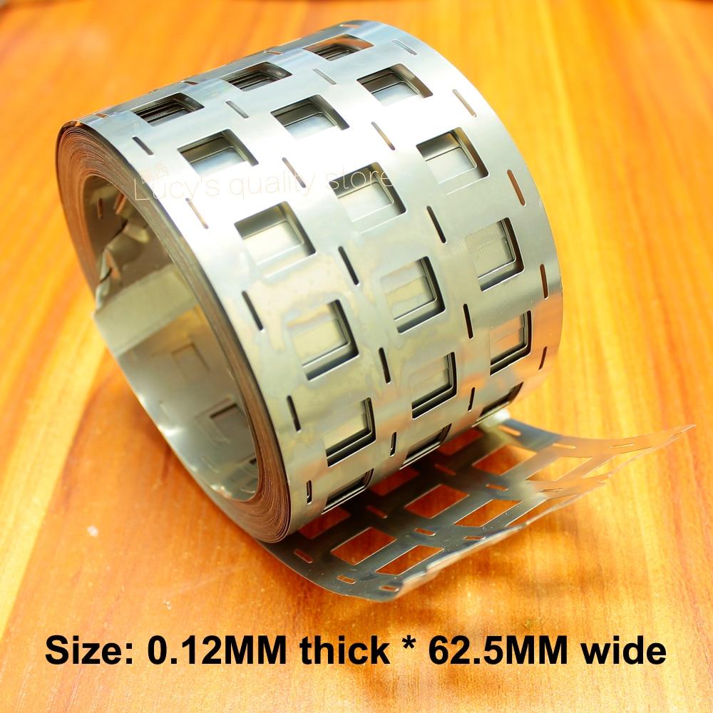 1kg 4 and 18650 lithium battery nickel nickel plated steel spot welding nickel sheet 0.12*62.5 punching 2 string 10 string