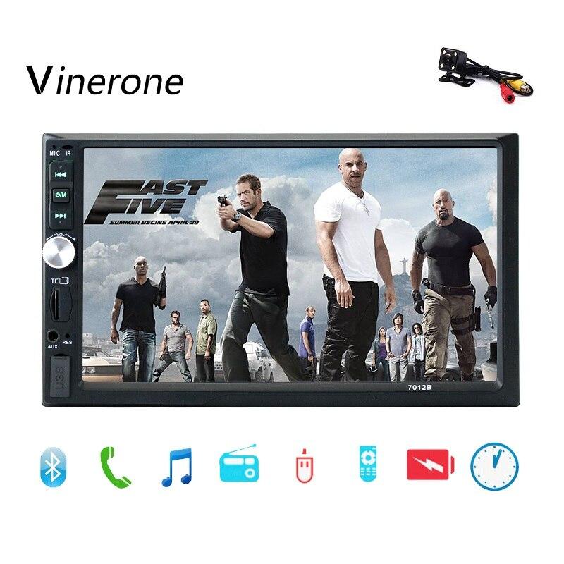 Autoradio Vinerone 2 din 7 pouces ecran tactile Auto Radio 2 din Bluetooth MP3 AUX USB SD FM MP5 lecteur 2din Autoradio voiture Audio