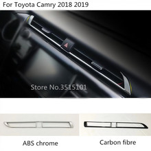 Car Sticker Air Conditioning Cover park warm button inner trim switch Outlet Vent 1pcs For Toyota New Camry XV70 2017 2018 2019