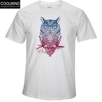 Fashion Short Sleeve Owl Printed Men Tshirt Cool Funny Men S Tee Shirts Tops Men T