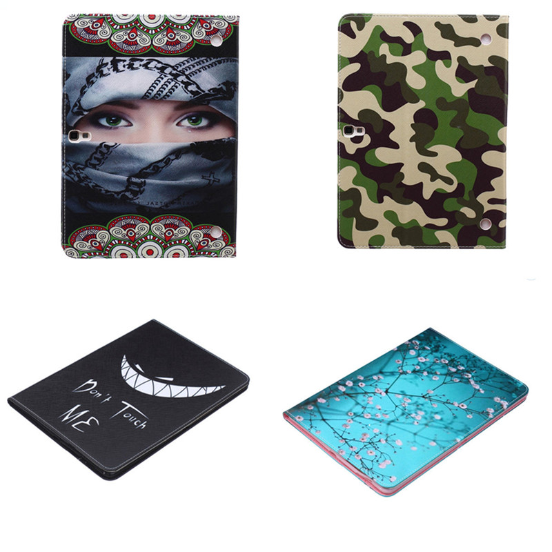 BF-Cute Cartoon Case for Samsung Galaxy Tab S 10.5 inch SM-T800 SM-T805C Fashion Stand Tablet PU Leather Cover For T800 T805C