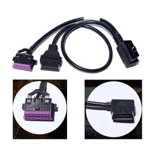 VAG – câble dextension 2 en 1, 16 broches, prise OBD2, câble femelle mâle, câble dextension dinterface Standard, pour automobile