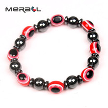 Magnetic Therapy Black Bracelet Slimming Gallstone Elastic Blue Round Eye Body Fat Cellulite Weight Loss Effectively Product New