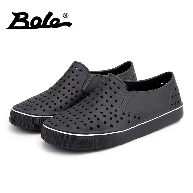 BOLE Size 36-45 Unisex Beach Sandals Fashion Casual Shoes for Men Light Weight Comfortable Summer Sneakers Breathable Flats