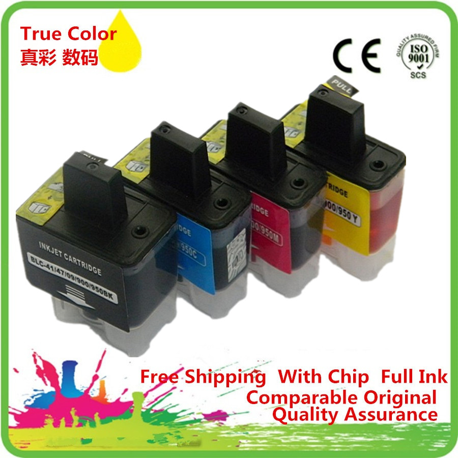 Replacement 4 x LC-09 LC-41 LC-47 LC-900 LC-950 Ink Cartridges For Brother MFC620CN MFC620CLN MFC640CW MFC820CN MFC820CW
