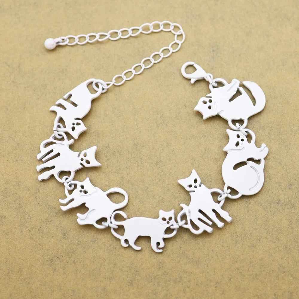 Bastet חתול חתלתול חיות מחמד קסם שרשרת קישור צמידים לנשים צמידי מתנת מסיבת הודי תכשיטי Pulseira Feminina Dropshipping