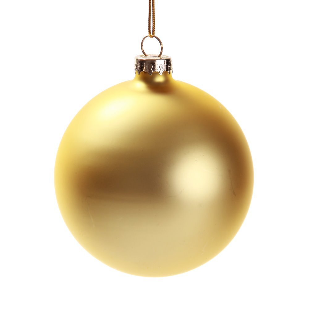 8CM Matt Gold Glass Ball Christmas Ornaments 100pcs Carton In From Home Garden On Aliexpress