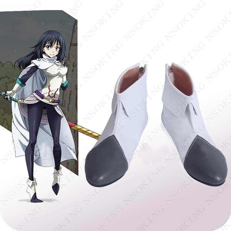 New Tensei shitara Slime Datta Ken Cosplay Boots Anime Shizue Izawa Shoes Custom Made