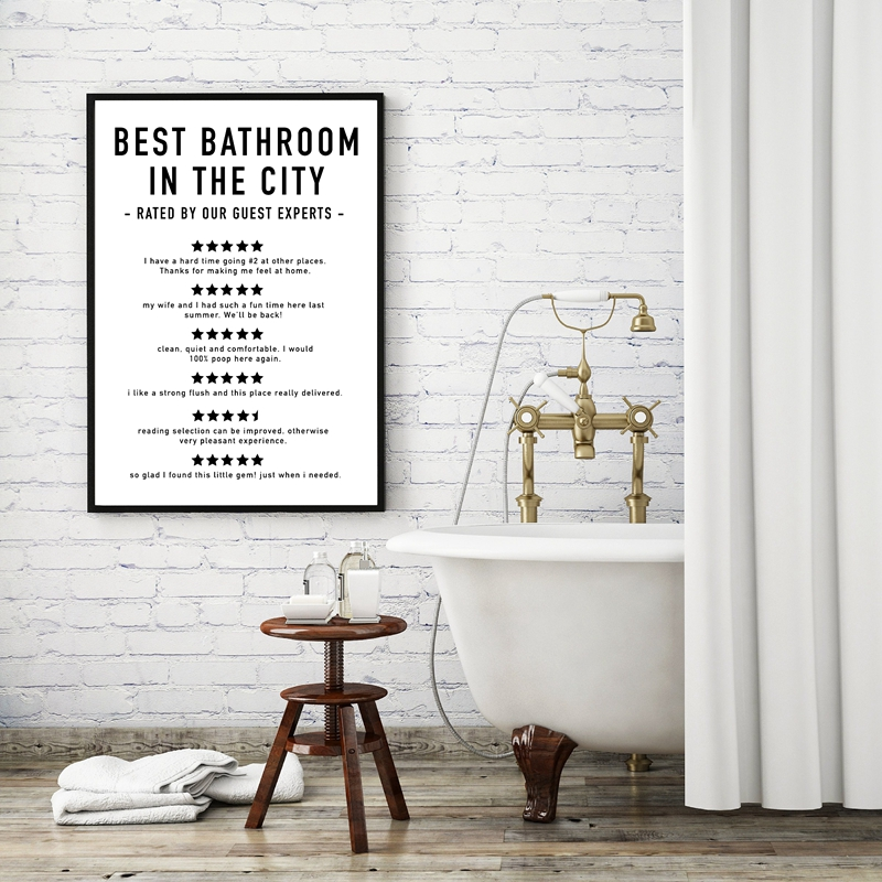 Funny Bathroom Signs Print