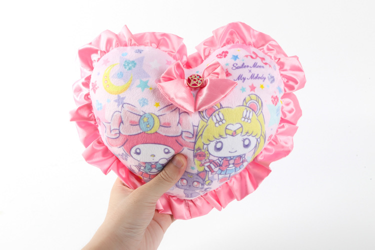 plush toy sailor moon cat girl my melody sweet love heart cushion small pillow