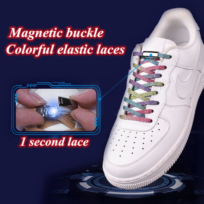 New Magnetic ShoeLaces Elastic Locking ShoeLace Special Creative No Tie Shoes Lace Kids Adult Unisex Sneakers Laces Strings