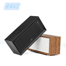 Altavoz Bluetooth inalámbrico con Subwoofer de madera Vintage, altavoz de tarjeta portátil para exteriores, Subwoofer MP3 de 20W de alta potencia