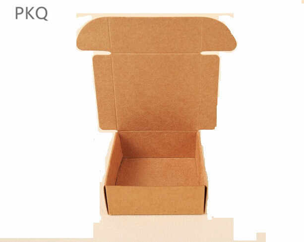 30pcs/lot 37Sizes Brown Carton Kraft Paper Box Wedding Gift Packing Boxes Brown Cardboard Candy Box Party Favors Soap Boxes
