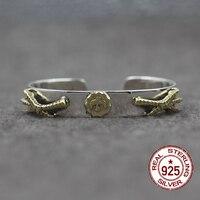 925 ayar gümüş bilezikler Mücevherat flyer Gerileme Hint tarzı Basit ve şık sizin lover için erkekler ve kadınlar Hediye