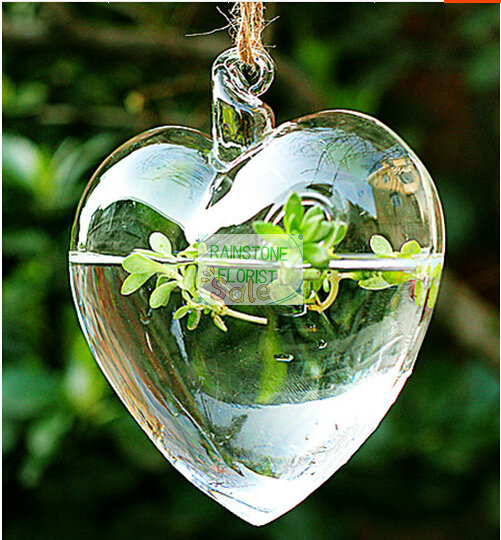 6/10CM Wedding Home Decor Heart Artificial FLower Pots Planter Hanging  Glass glass Vase Clear - Compare Prices On Clear Planter Pots- Online Shopping/Buy Low