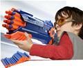 Serie potente lanzador con 20 unids form soft EVA bala de juguete de plástico pistola de aire juguetes para los niños 1 shoot 2 balas