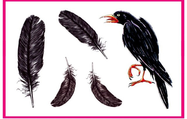 a0e90a0cf Tattoos Temporary Tattoo Sticker One-time tattoo paste Waterproof Super  realistic!!! Avant-garde crow Feather