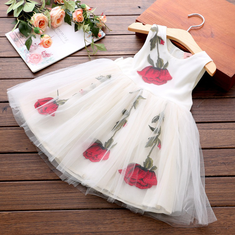 Children Flower Girl Dresses Evening Summer Dress Girls Ball Gown Tulle Princess Birthday Formal Pageant Party Prom Dress D20 free shipping custom design princess dresses gown long prom dress pink white yellow flower girl dress pageant ball party dresses