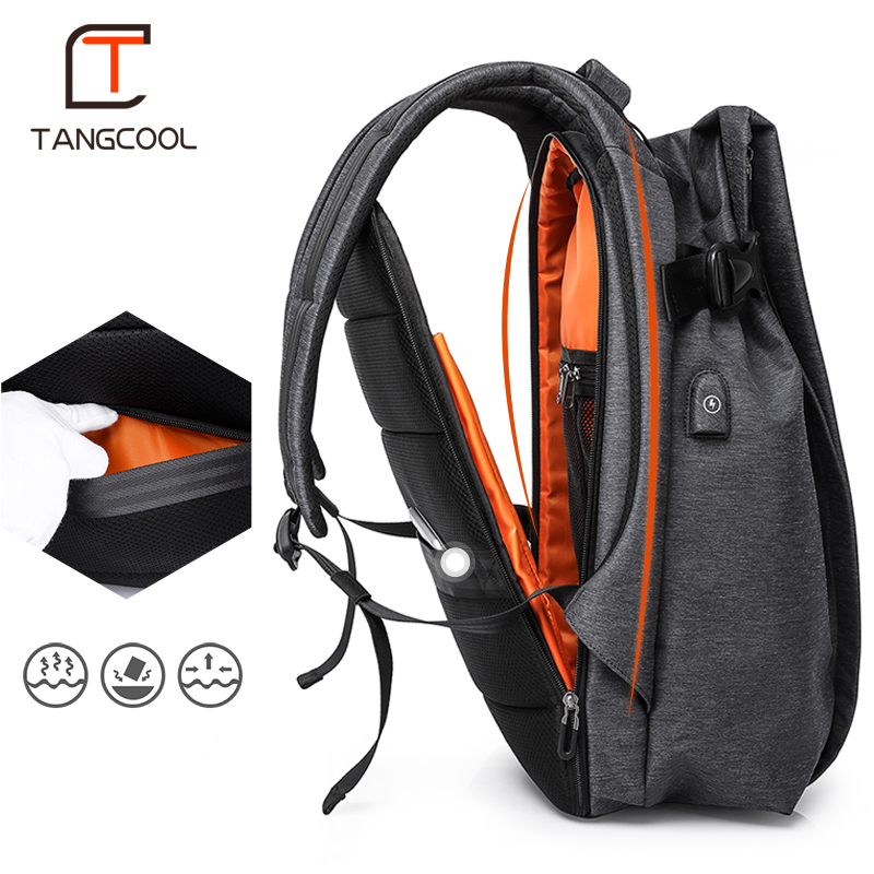 b71d4d5f0 [HOT DEAL] US $56.80 for Tangcool Fashion Men Backpack for Laptop 17.3USB  Port Waterproof Travel Backpack Large Capacity College Student School  Rucksack
