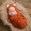 Bebé recién nacido fotografía atrezzo lindo fox sombrero del bebé accesorios hechos a mano del ganchillo del bebé embroma el sombrero