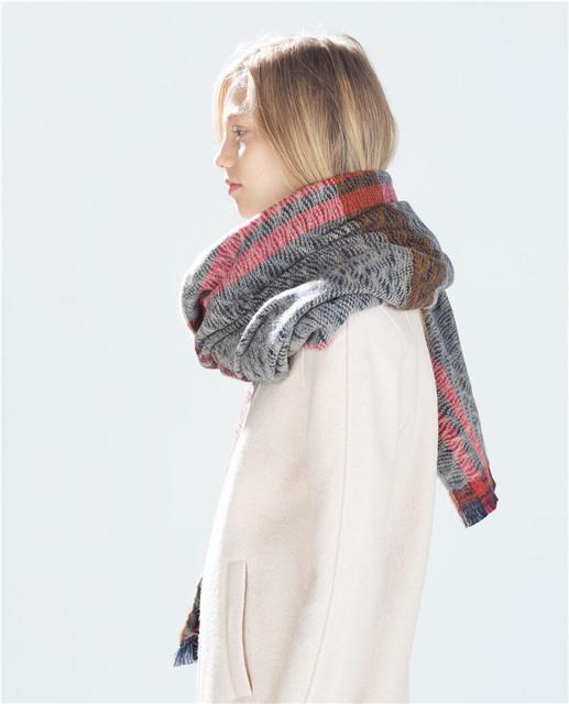 Za mujeres bufanda de invierno 2016 Cálido Plaid Bufanda Del Nuevo Diseñador Unisex Acrílico Chales Bufandas de Gran Tamaño de Las Mujeres Básicas 200*85 CM