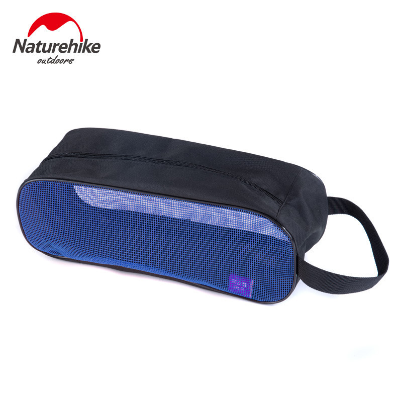 Naturehike Travel Sport Camping Zipper Breathable Tote Mesh Storage Shoes Bag Pouch Case Camping shoes bag outdoor travel tools