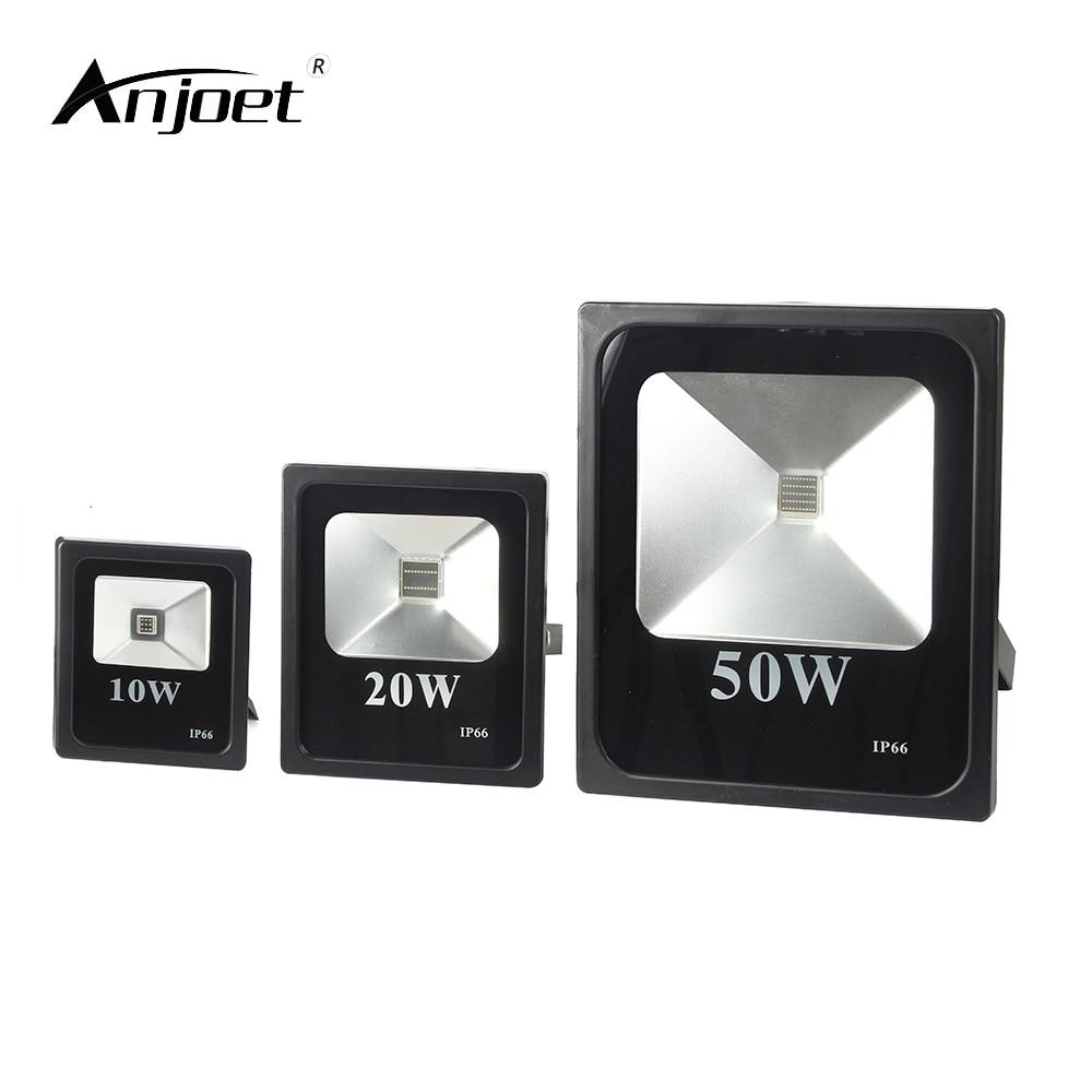 ANJOET 395nm Floodlight 10W 20W 50W High Power UV LED Flood Light 220V Ultraviolet Curing Detection