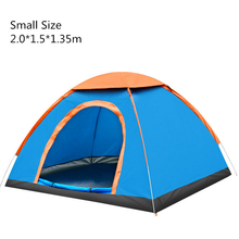 Tent 3-4 Person 200*200*135CM Camping Automatic Ultralight Tent Waterproof Outdoor Climbing Fishing Tents Hiking