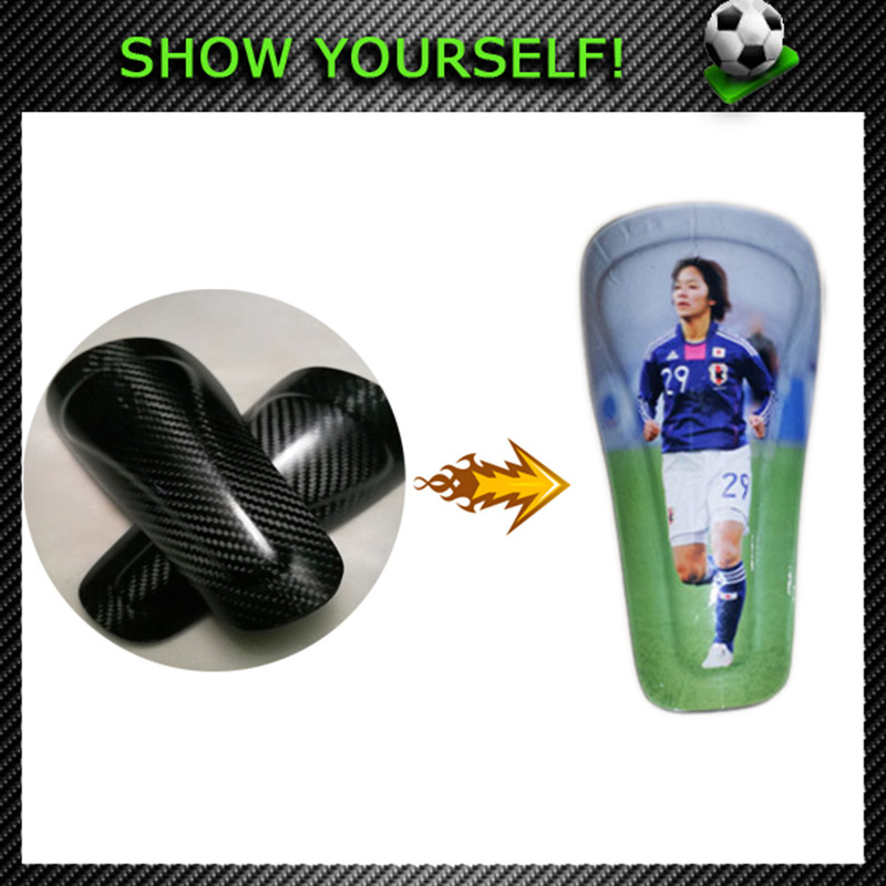 KJ-2 with Pattern Print Picture You Like on Soccer Shin Guards Football Calf Protector Shin Pads