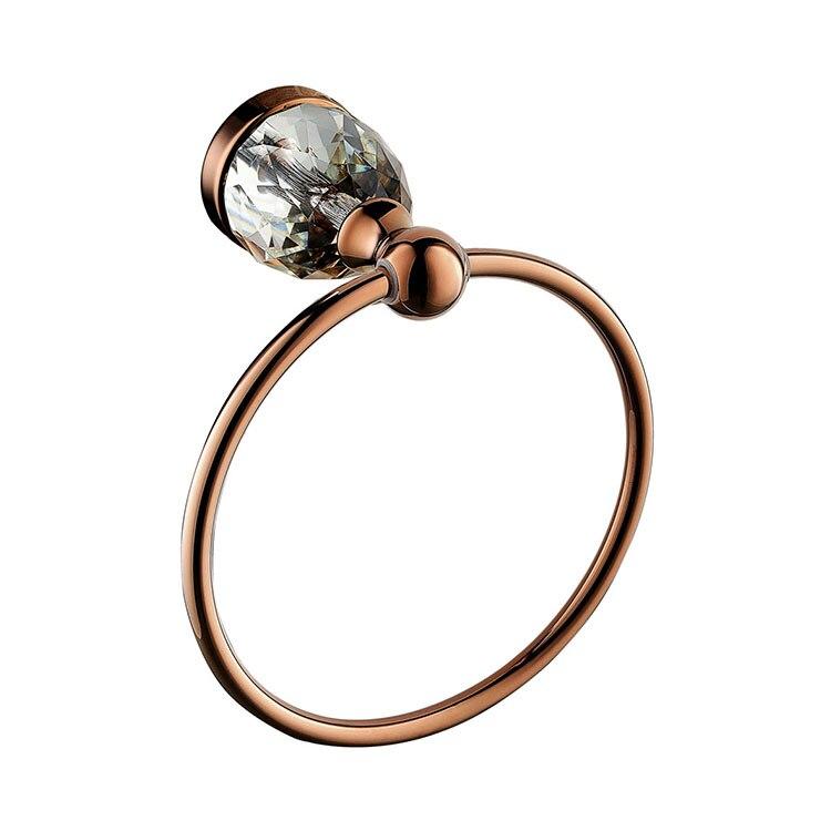 Brass Rose gold Finished Towel Ring,Bathroom Accessories Products Towel Holder,Towel Rack-D9084 metal ring holder for smartphones rose gold