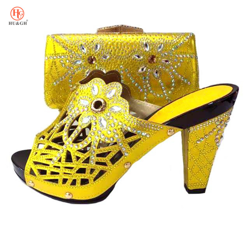 все цены на New Arrival Yellow Shoes and Bag Set Matching Shoe and Bag Set for African Party Nigerian Women Italian Set To Match for Wedding