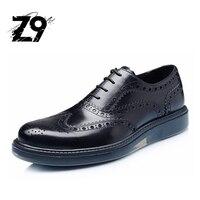 최고 패션 드레스 남성 신발 옥스포드 플랫 브로그 스타일 브랜드 품질 디자인 레이스 업 클래식