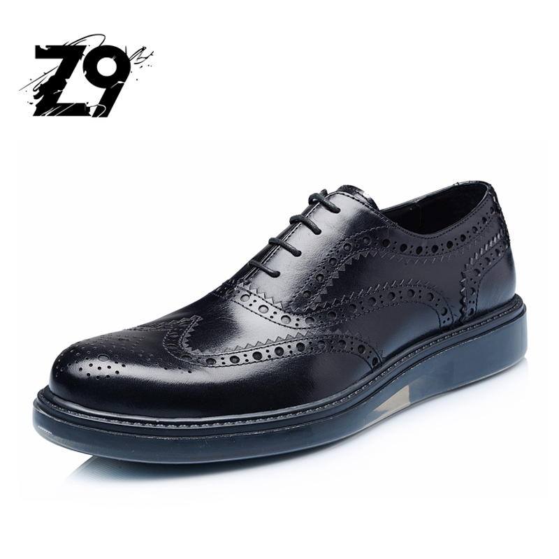 Top Fashion Dress Men Shoes Oxford Flats Brogue Style Brand Quality Design Lace Up Classic ...
