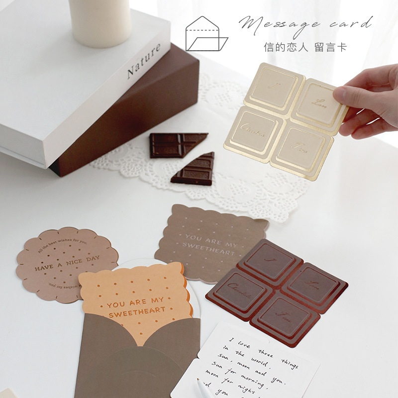 Coloffice Creative Dessert Series Envelope Card Gift Envelope Message Card School Office Supplies Personalized  Stationery 1PC