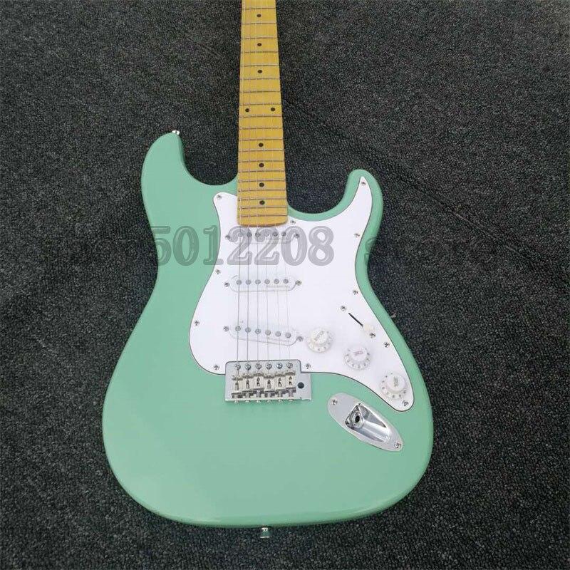 ST guitare électrique 22 frettes Surf vert érable Fretboard bois massif de haute qualité