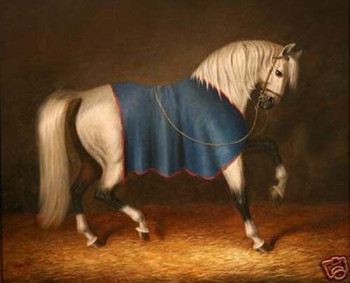 "100% Handicrafts Art Repro oil painting:""Horse & Blanket"" 24x36"""