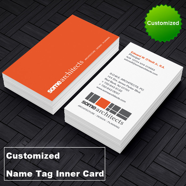Amazing Customized Name Tag Inner Card Coated Paper Working Card Inner Company Logo Office  Supplies Stationery
