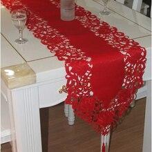 Новинка, вышитая скатерть с изображением флага, тканевый чехол, полотенце, Красное Атласное кружево, Рождественская скатерть, каминная скатерть, наппэ, домашний Рождественский Свадебный декор